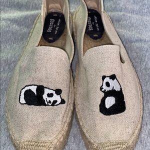 Espadrilles Style. SOLUDOS. Size 10!! Cute pandas.